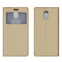 Чехол-книга CASE Dux Series, для Nokia 3, цвет золотой