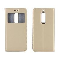 Чехол-книга CASE Dux Series, для Nokia 5, цвет золотой