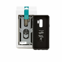 Чехол-накладка CASE Defender, для Samsung Galaxy S9 plus, TPU/PC, серебристый, мат , блистер