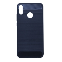 Чехол-накладка CASE Brushed Line, для Huawei Honor 8X, TPU, синий, мат , блистер