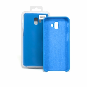 Чехол-накладка CASE Liquid, для Samsung Galaxy J6 plus, TPU, синий кобальт, мат , блистер