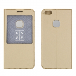 Чехол-книга CASE Dux Series, для Huawei P10 Lite, цвет золотой