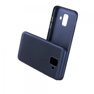 Чехол-накладка CASE Matte Natty, для Samsung Galaxy A6, PC, синий, мат , блистер