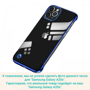 Чехол-накладка CASE Flameress Samsung Galaxy A20s синий блистер