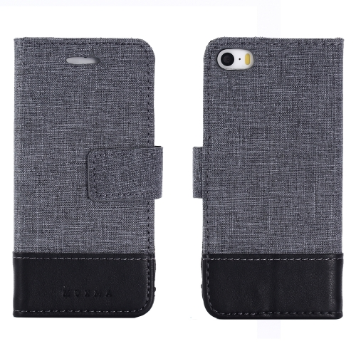 Чехол-книга CASE Muxma, для Apple iPhone 5/5S, цвет черный