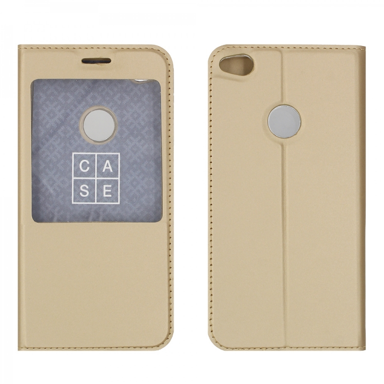 Чехол-книга CASE Dux Series, для Huawei GR3 (2017), цвет золотой