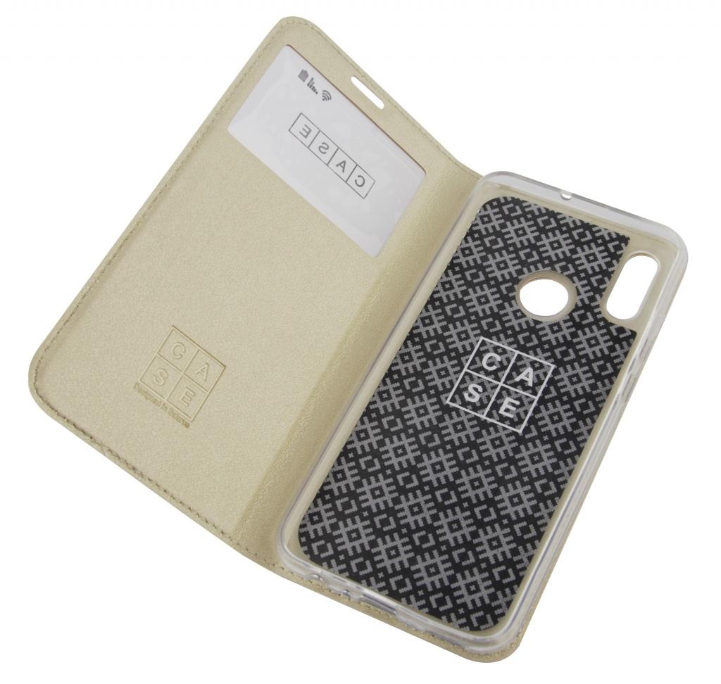 ᐅ Чехол кремовый для 📱 Huawei (чехол-книга) по цене 22,00